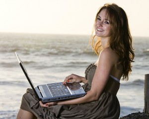 Telecommuting from the beach