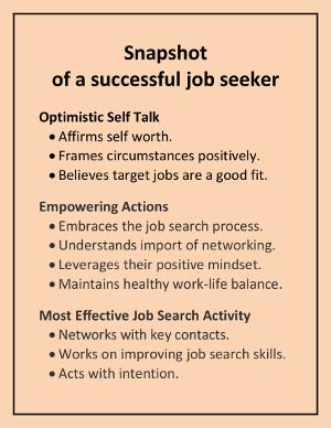 Snapshot of a successful job seeker