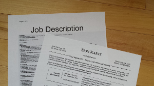 job description and resume