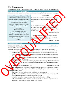 overqualified strategies for career documents and