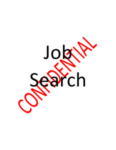 Confidential Job Search